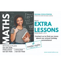 Master Maths Holiday Promotions A6 Flyer : Packs of 250