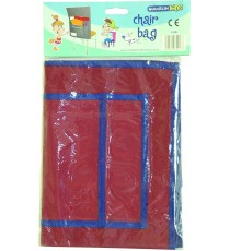 Marlin Kids polyester chair bags asst. 40cm x 40cm burgundy, grey, green, yellow, red, blue
