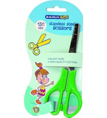 Marlin Kids scissors blunt nose 130mm try-me card