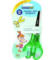 Marlin Kids scissors blunt nose neon glitter jelly handle 130mm