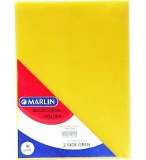 Marlin secretarial folders asst. colours 10's 170 micron - clear/red/yellow/blue/green