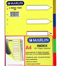 Marlin File divider/indexes 5 position