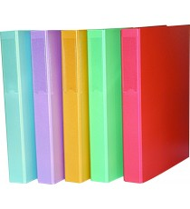 Ringbinder PVC (Coated Paper) asst. nova colours: Light Blue/Green/Lilac/Pink/Yellow