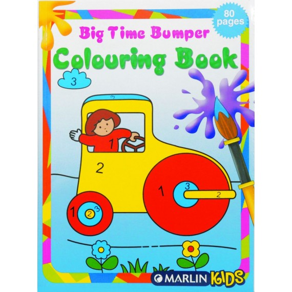 Marlin Big-time bumper colouring books 80 page