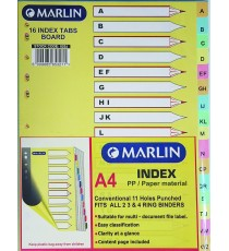 Marlin File divider/indexes - A to Z
