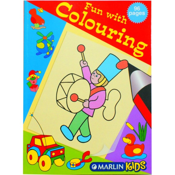 Marlin Fun with colouring books 96 page