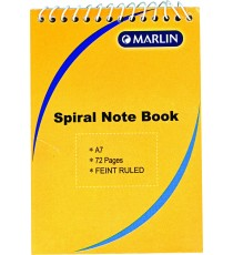 Marlin top spiral note book A7 72 page