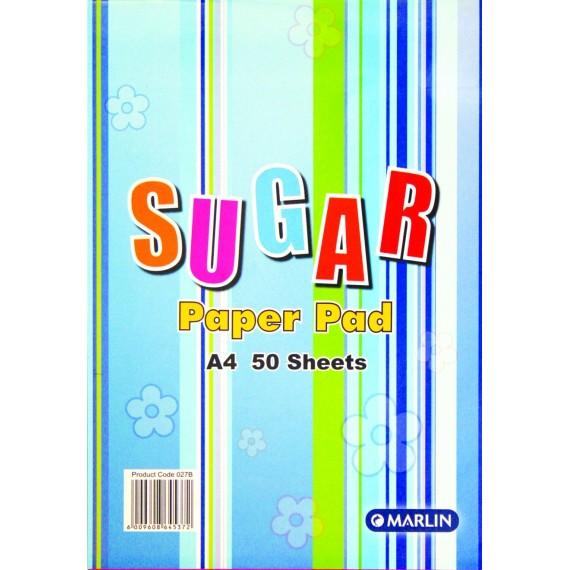 Marlin A4 Sugar paper pad 50 sheets asst. colours
