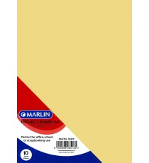 Marlin Project Boards A4 10's Tokai 160gsm Pastel buff