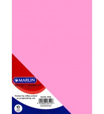 Marlin Project Boards A4 10's Tokai 160gsm Pastel pink
