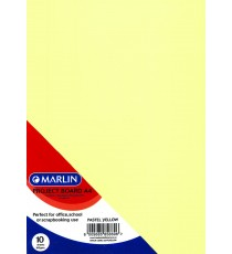 Marlin Project Boards A4 10's Tokai 160gsm Pastel yellow