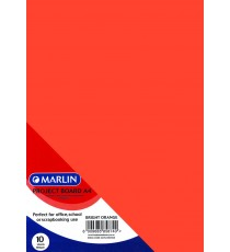 Marlin Project Boards A4 10's 160gsm Bright Orange