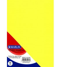 Marlin Project Boards A4 10's 160gsm Bright Yellow