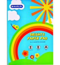 Marlin A4 paper pad 50 sheets 80gsm Bright asst.
