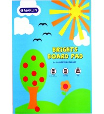 Marlin A4 project board pad 25 sheets 160gsm Bright asst.