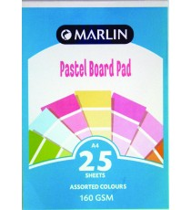 Marlin A4 project board pad 25 sheets Tokai 160gsm Pastel asst.