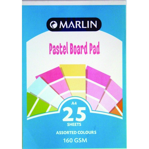 Marlin A4 project board pad 25 sheets Tokai 160gsm Pastel asst.