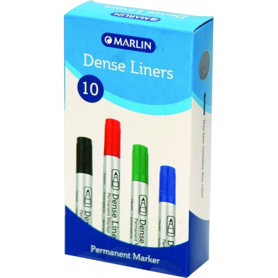 Marlin Dense Liners Permanent markers 10's Bullet black