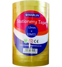 Marlin clear tape 12mmx33m 12's