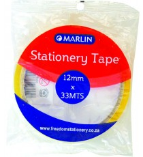 Marlin clear tape 12mmx33m 1's