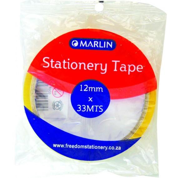 Marlin clear tape 12mmx33m 1's