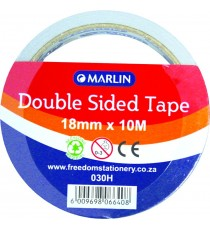 Marlin double sided tape 18mm 1's blister card