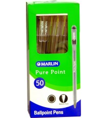 Marlin Pure Point transparent medium pens 50's blue
