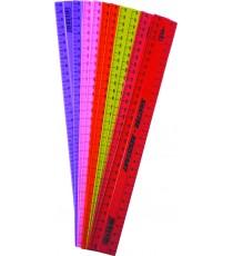 Edo plastic rulers 10's asst. colours 17g