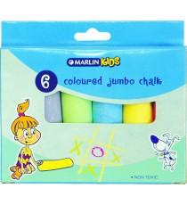 Marlin Kids colour chalk jumbo 6's
