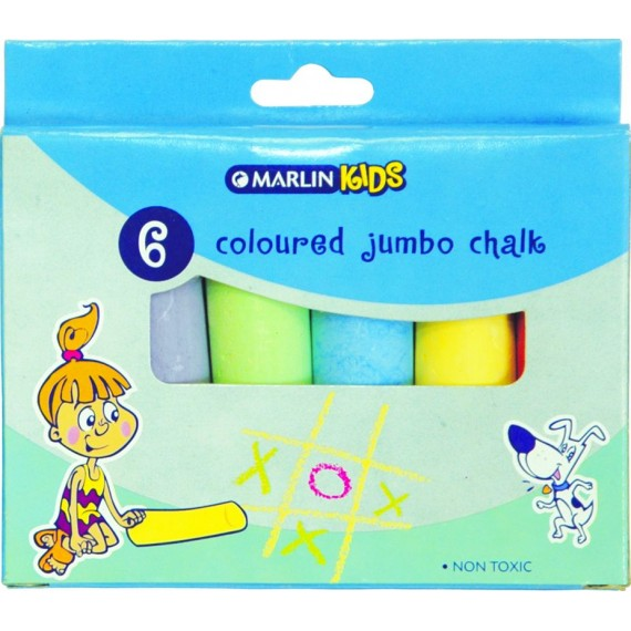 Marlin Kids colour chalk jumbo 6's