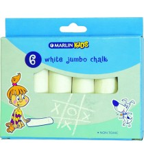 Marlin Kids white chalk jumbo 6's