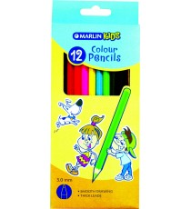 Marlin Kids colour pencils 12's long
