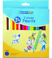 Marlin Kids colour pencils 24's long