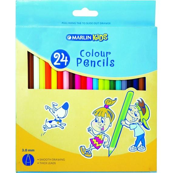 Marlin Kids colour pencils 24's long
