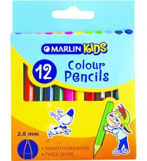 Marlin Kids colour pencils 12's short