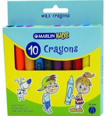 Marlin Kids wax crayons B10's 12mm