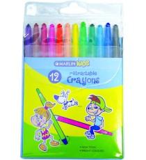 Marlin Kids retractable crayons 12's