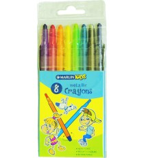 Marlin Kids retractable  crayons 8 metallic colours