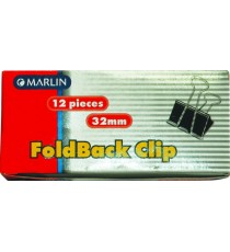 Marlin fold back clips 32mm 12's