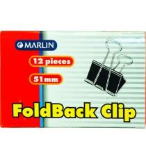 Marlin fold back clips 51mm 12's