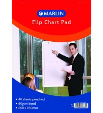 Marlin 40 sheet Bond paper flip chart 860x610mm