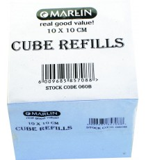 Marlin Cube Refills white 10x10x10 cm in shrink-wrap