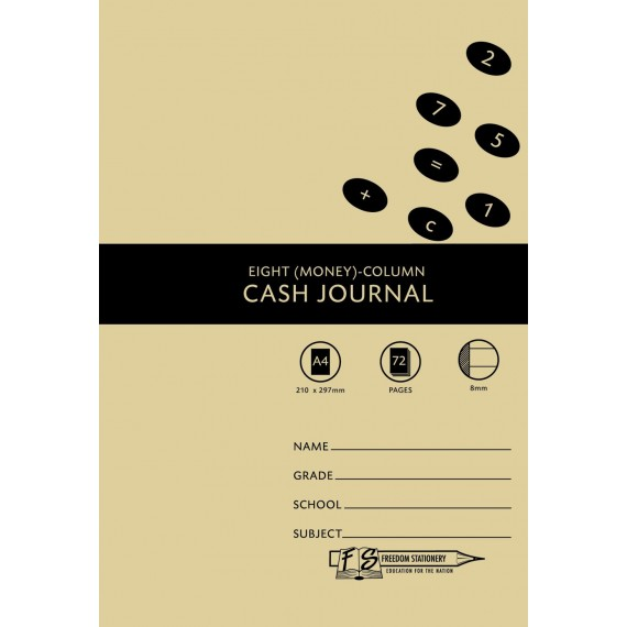 A4 Accounting Bks 8MC Cash Journal