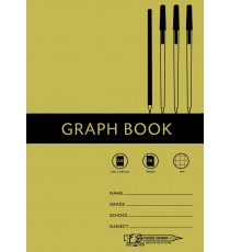 A4 Graph Book 2mm 36pg (sold in packs of 25)