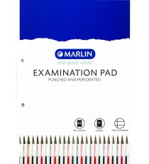 A4 Exam Pads 80L - Punched