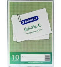 Marlin Uni-File Display Books 10 pocket