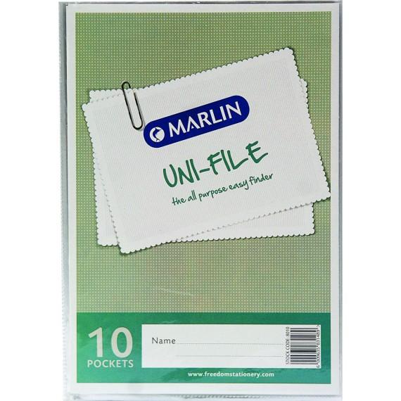 Marlin Uni-File Display Books 10 pocket