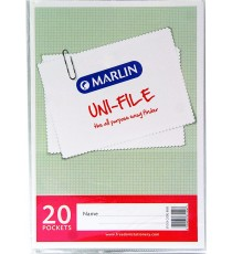 Marlin Uni-File Display Books 20 pocket