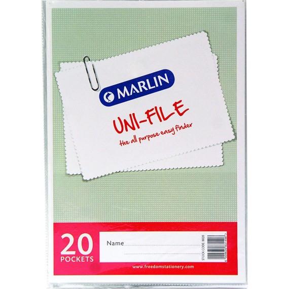 Marlin Uni-File Display Books 20 pocket