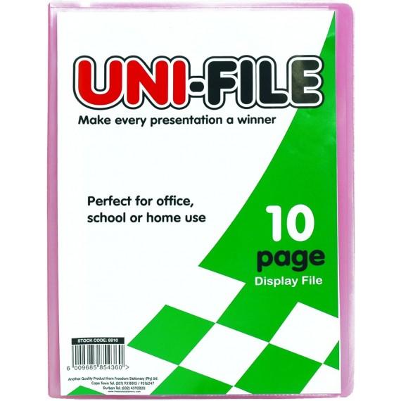 Uni-File Hard Cover Display Books 10 pocket